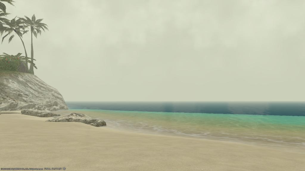 ミストの海辺