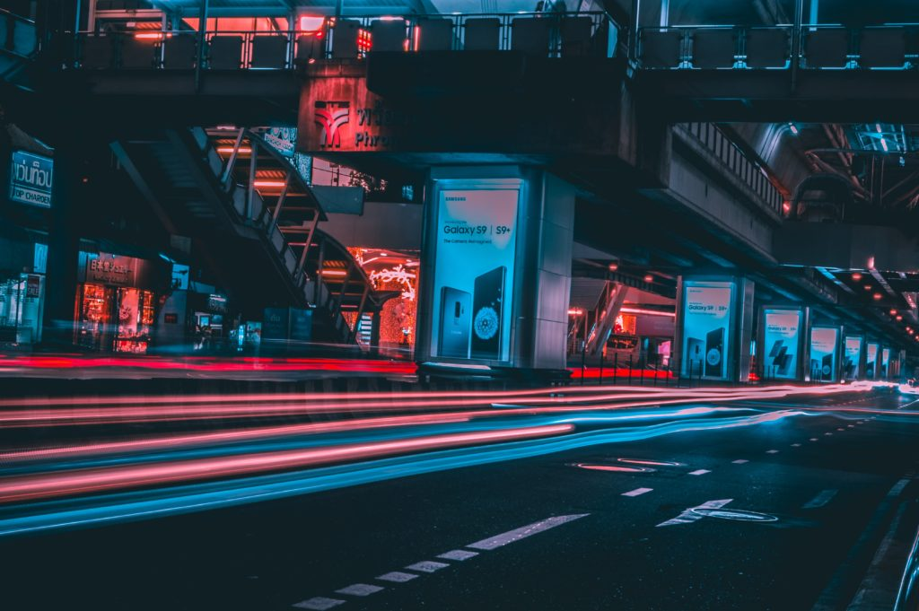 夜のプロンボン駅