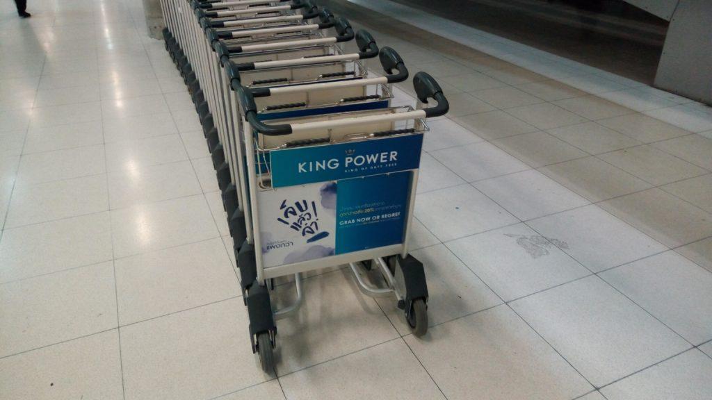 スワンナプーム空港のカート