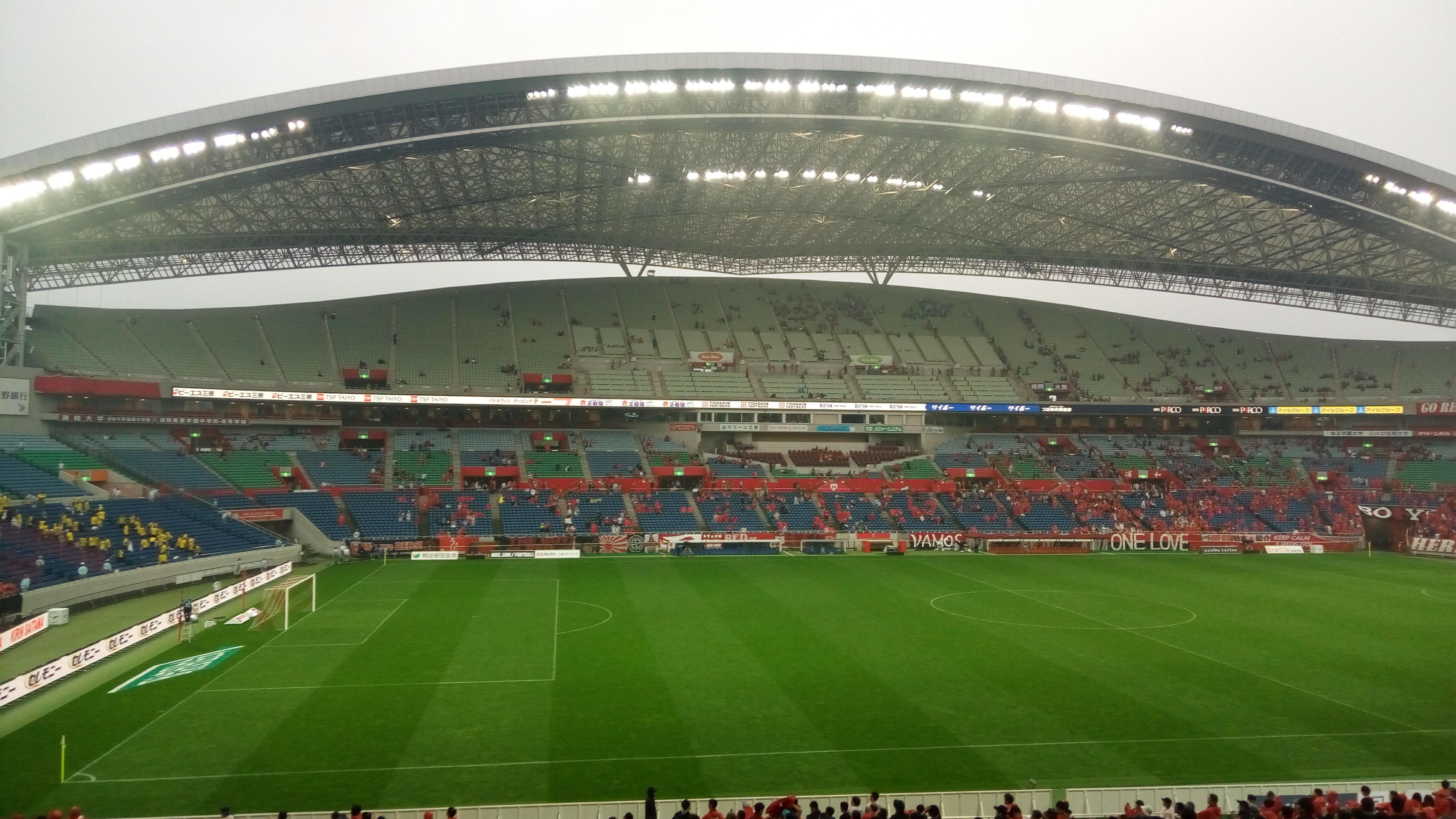 試合後の埼スタ
