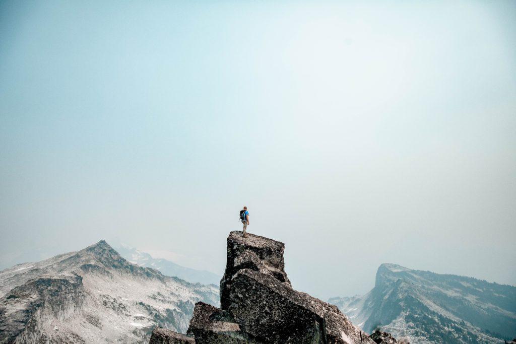 どこかの山頂