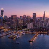 サンフランシスコの夕方の景色