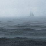 嵐で揺れてる船