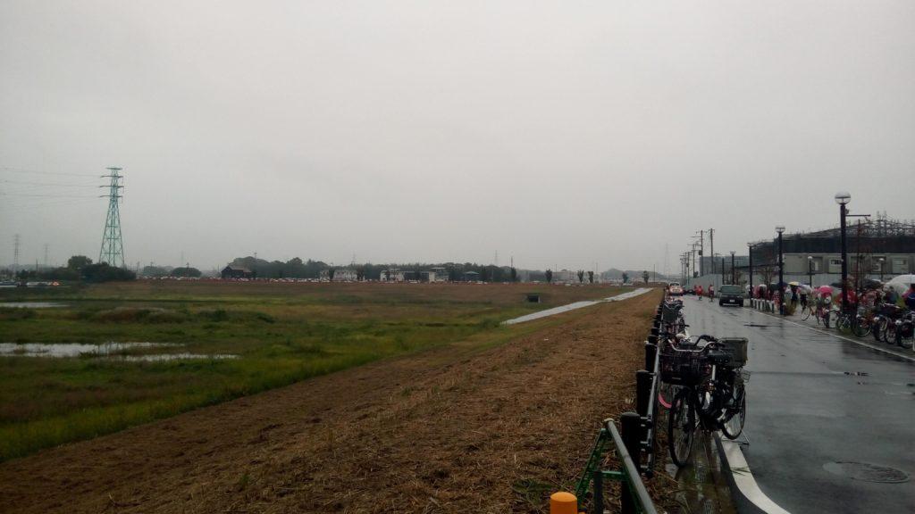 試合後の大雨の埼スタ