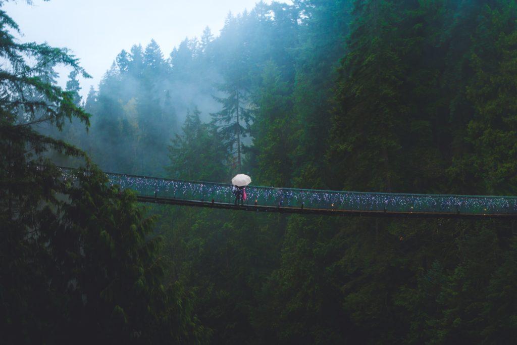 カナダのつり橋