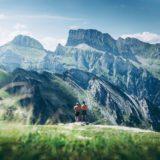 山の上でジョギング?