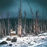 雪原での小屋