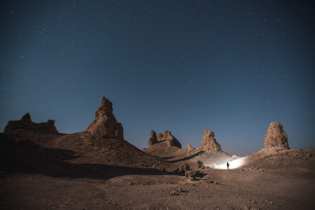 南米とかの砂漠の夜