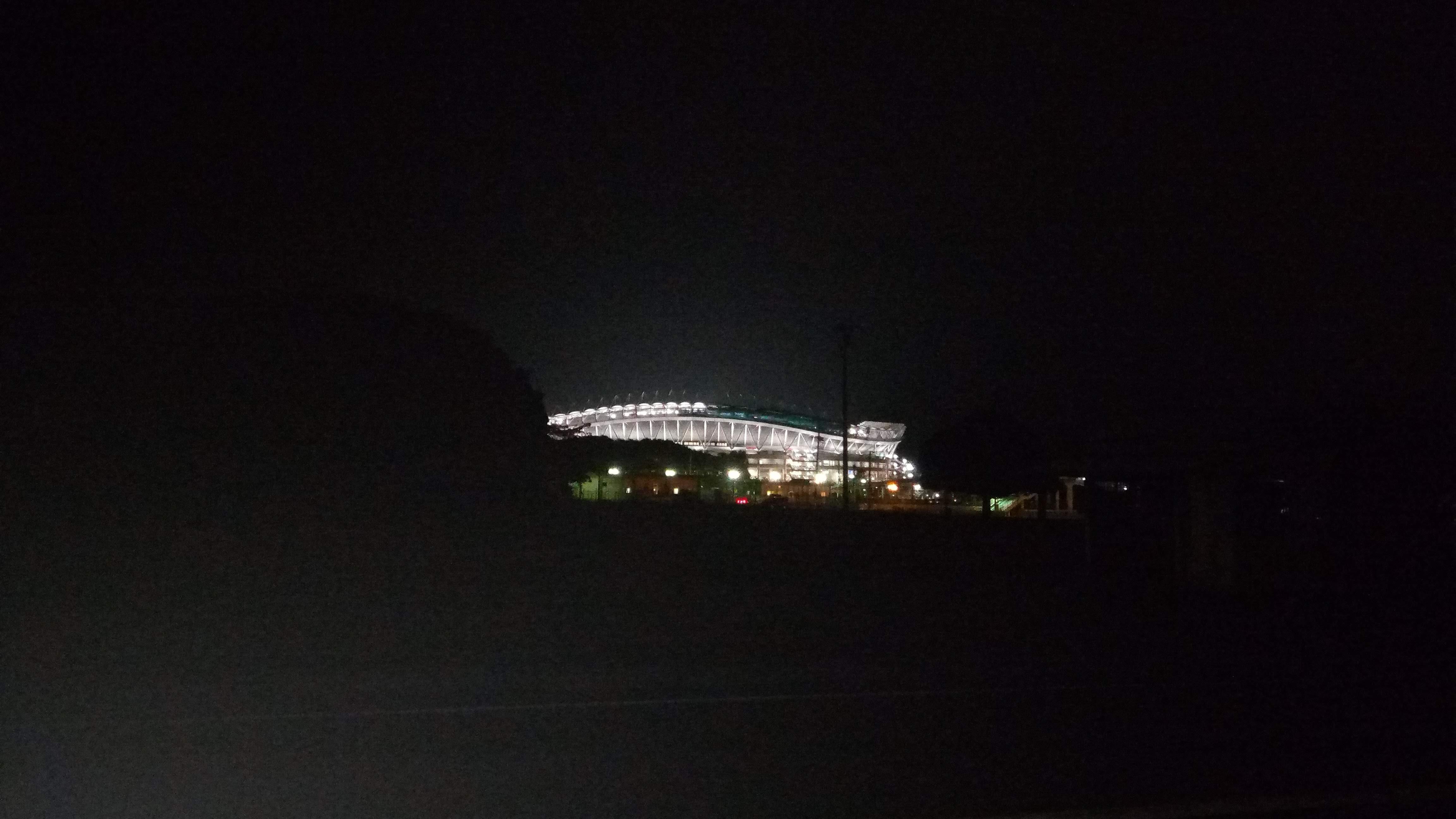 23時のカシマサッカースタジアム