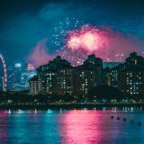シンガポールの夜の花火