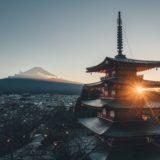 富士山のようだが、どこかは不明