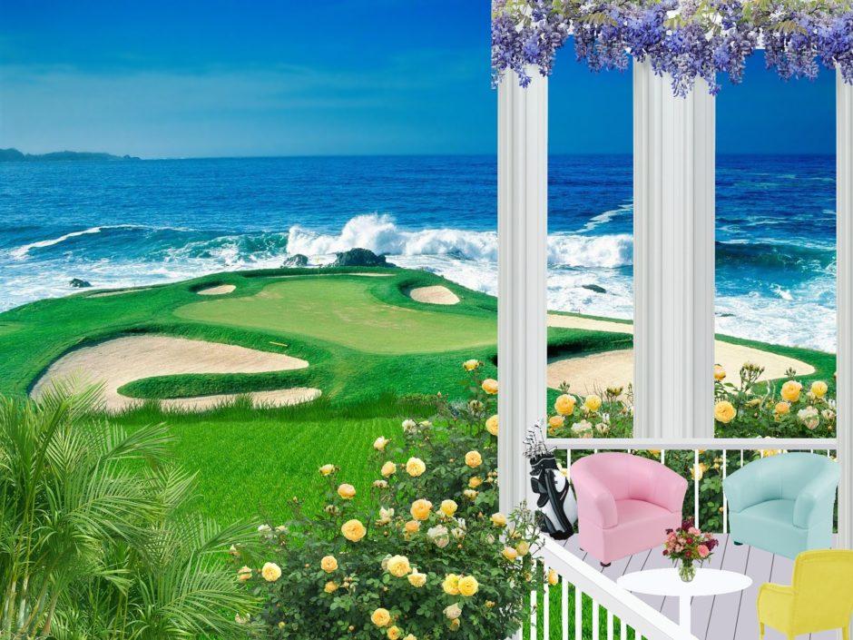 ゴルフ場の藤