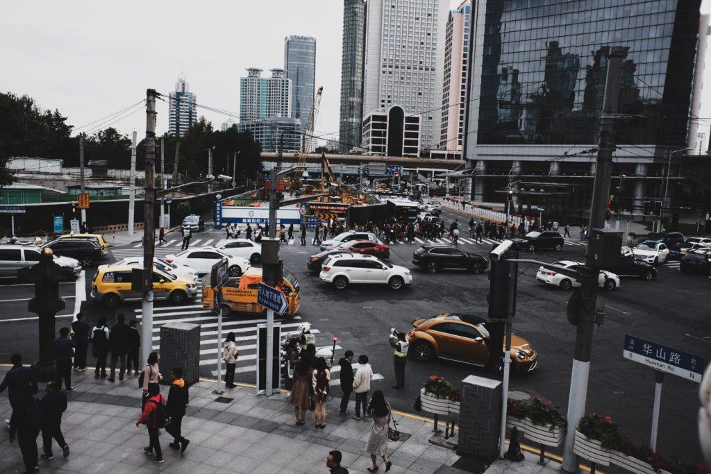 上海の交差点