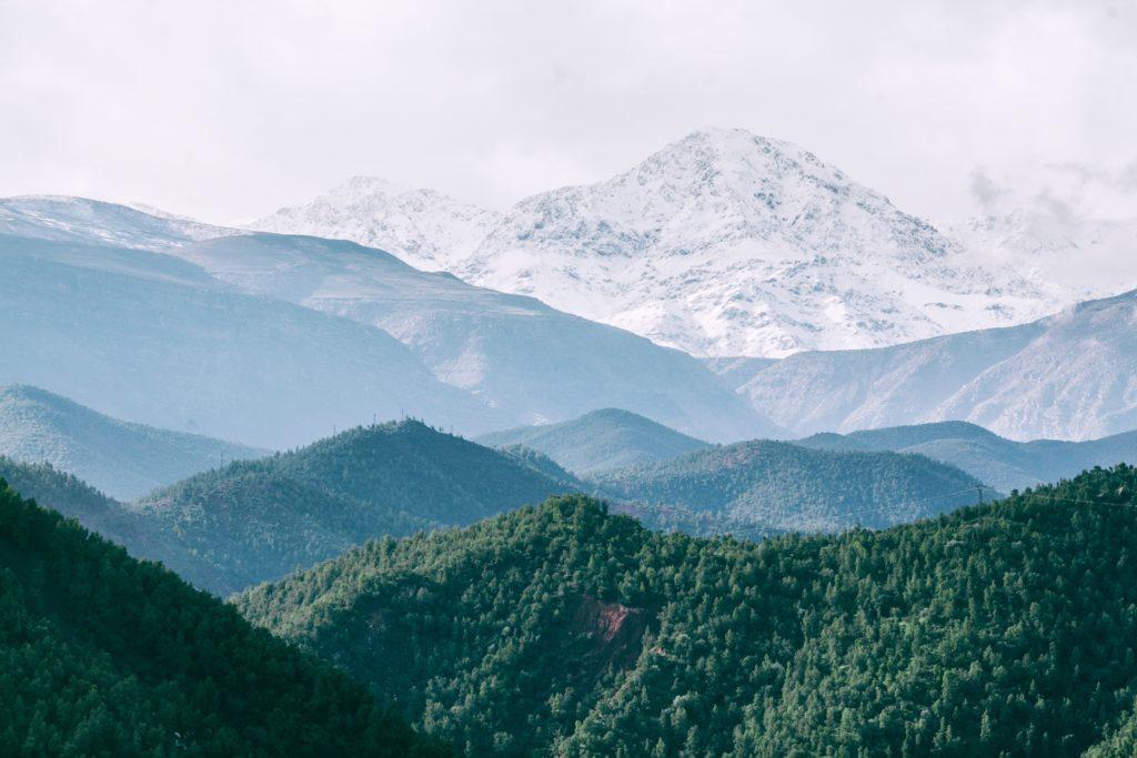 どっかの雪山