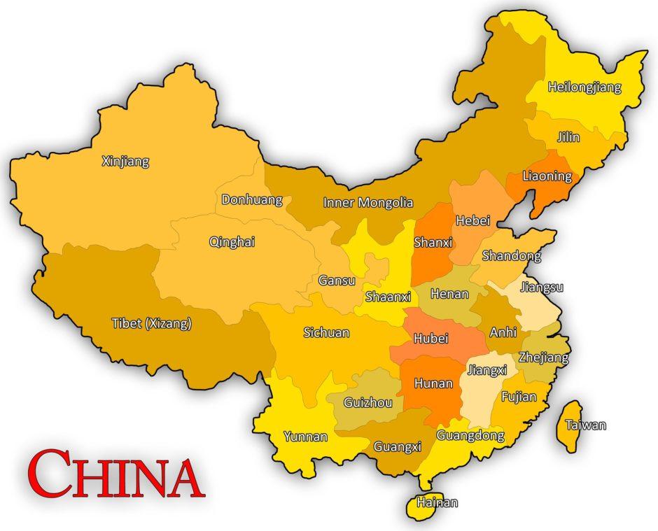 中国の地図