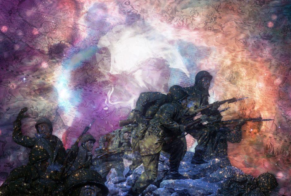 戦争の写真らしい