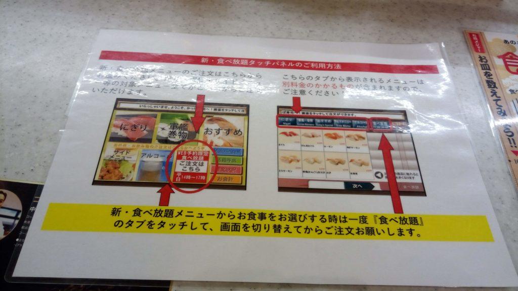 かっぱ寿司の注文方法