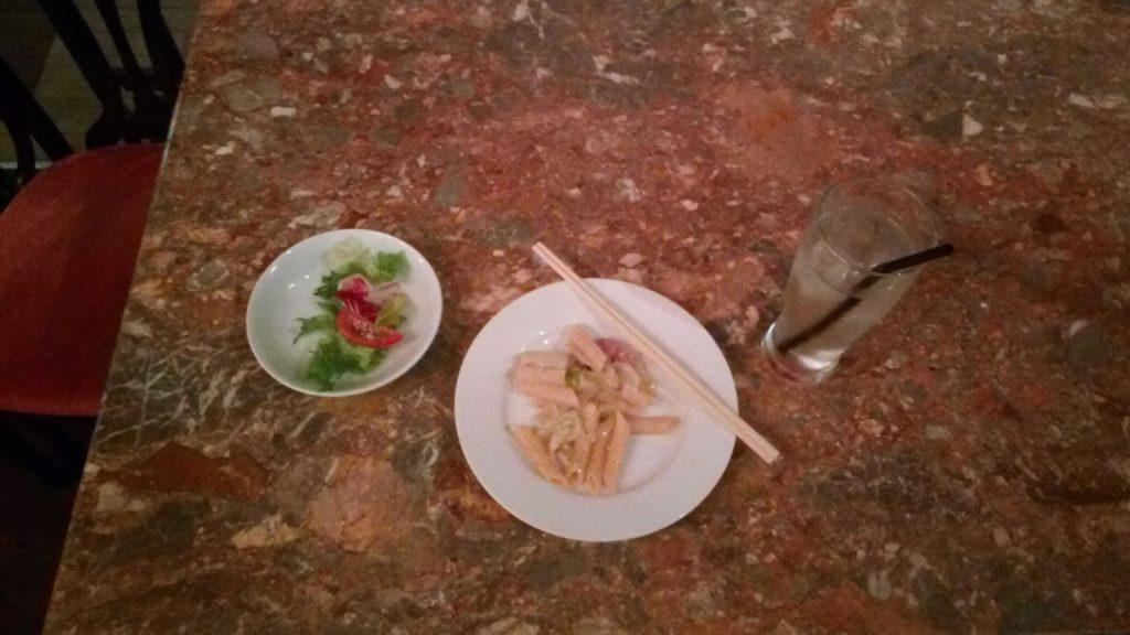 ポテトとサラダ