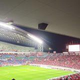 松本戦の試合風景