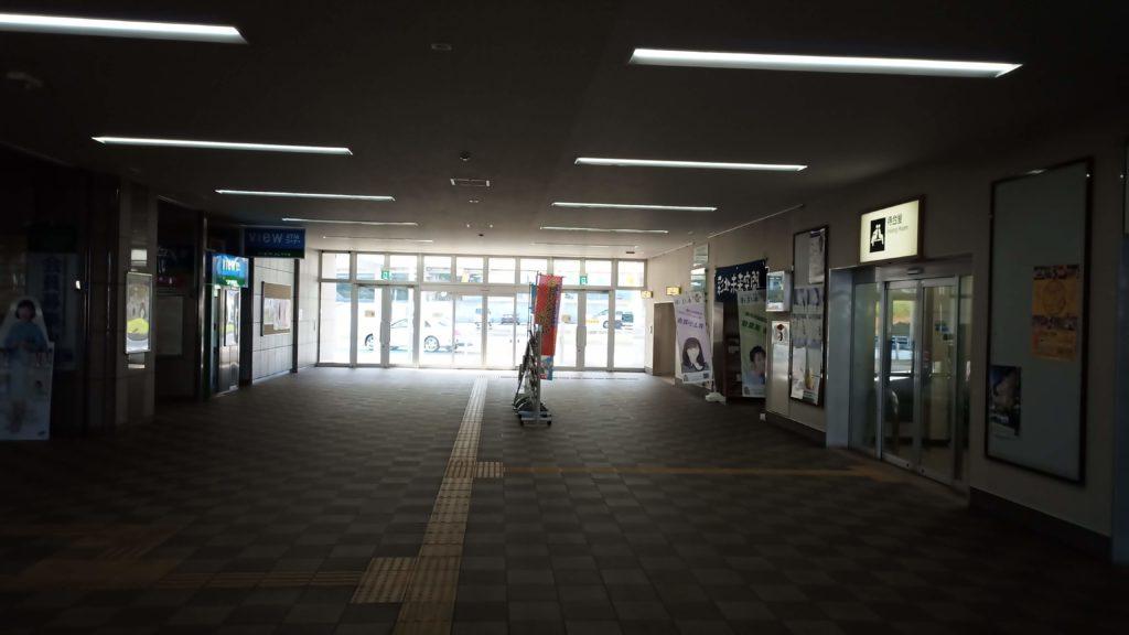 本庄早稲田駅の構内